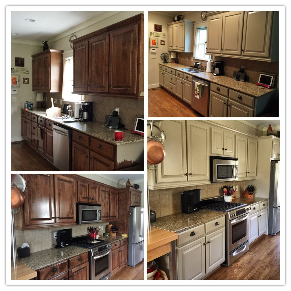 Painted Cabinets Sherwin Williams Universal Khaki Painting Kitchen Cabinets Kitchen Remodel Kitchen Cabinets
