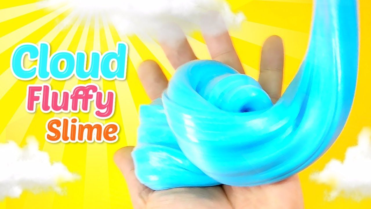 How To Make Cloud Fluffy Slime !! Diy Sky Colors Slime Recipe (soft Bubb