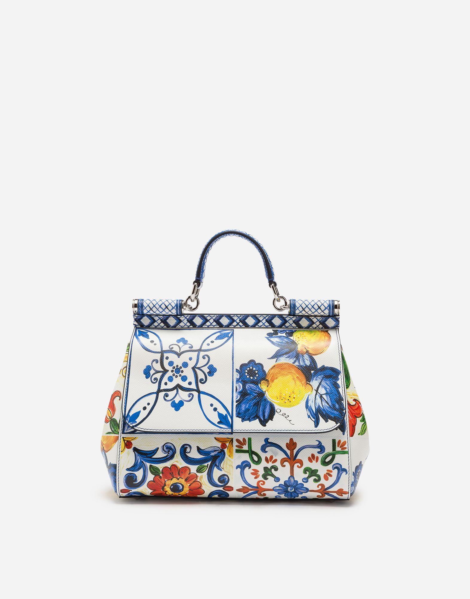 d19630e309 Dolce   Gabbana - Medium Sicily bag in Majolica-print Dauphine calfskin  ( 2