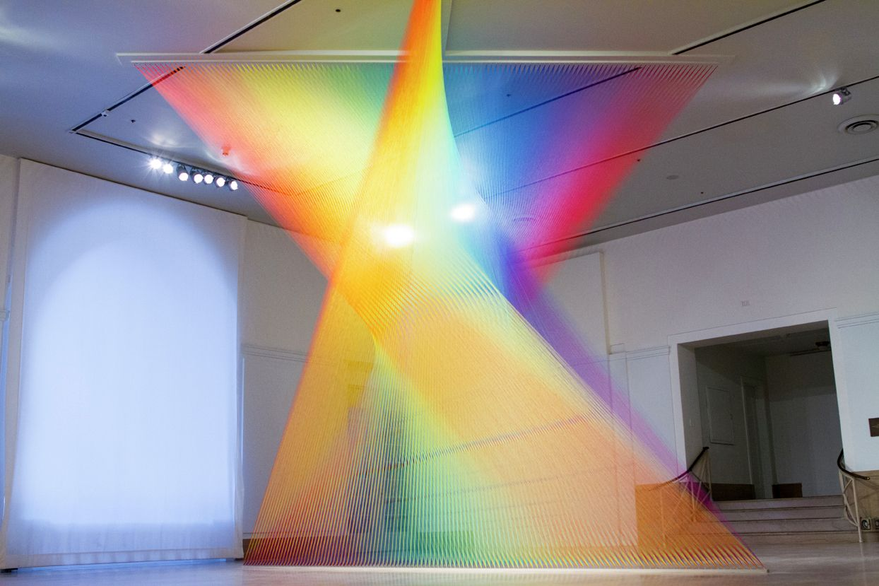 Exhibition: The Shape of Light: Gabriel Dawe | Gabriel, Exhibitions ... for Light Installation Art Indoor  157uhy