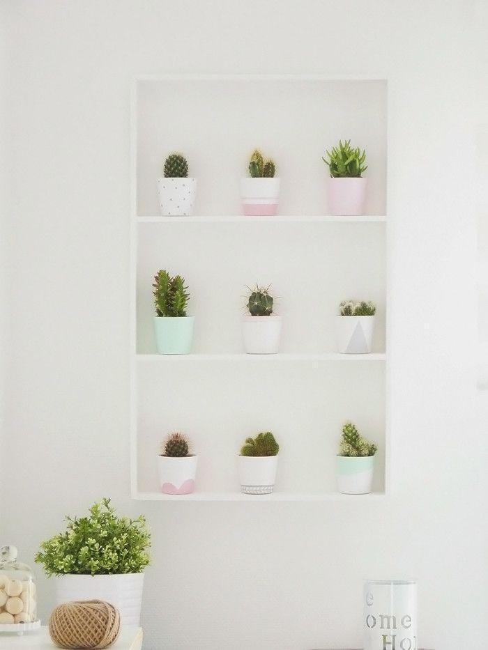 fabriquer une tag re cactus diy home decor cactus. Black Bedroom Furniture Sets. Home Design Ideas