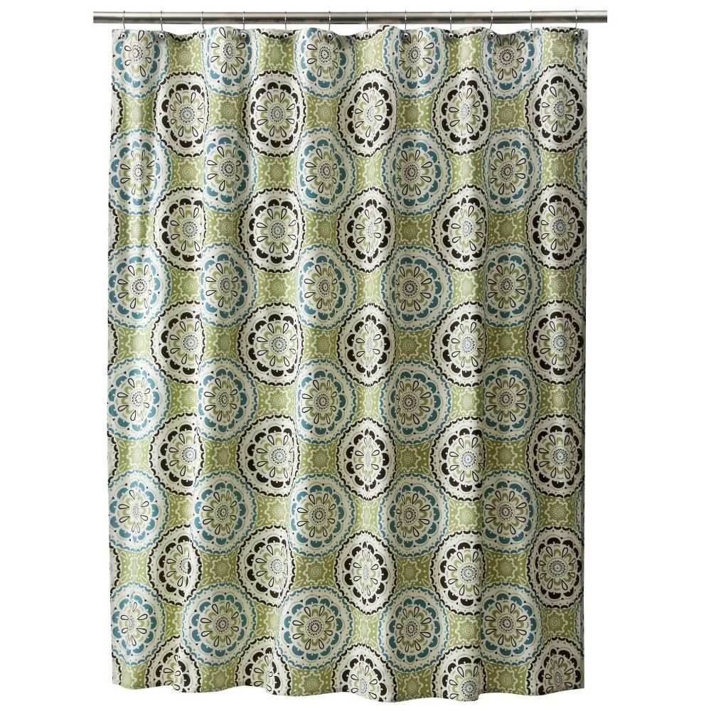 Vera Bradley Shower Curtains Ebay - Medallion shower curtain threshold