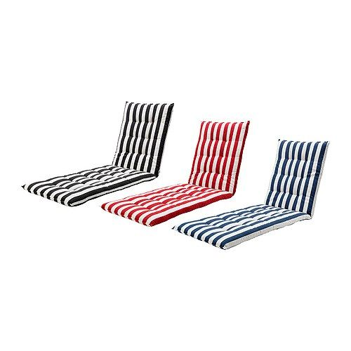 ha…lla– chaise pad ikea reversible two sides to use red and white