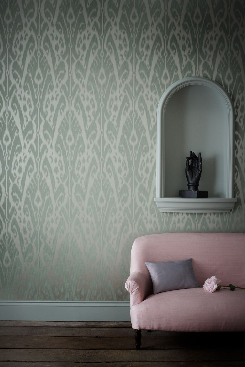 Ikat wallpaper from Jim Thompson