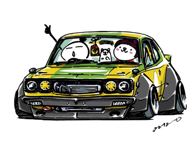 "car illustration""crazy car art""jdm japanese old school "" SAVANNA RX ..."
