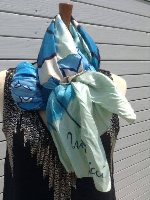 Foulard 100 % soie foulard réalisé avec 3 foulards vintage ... 08434968f66