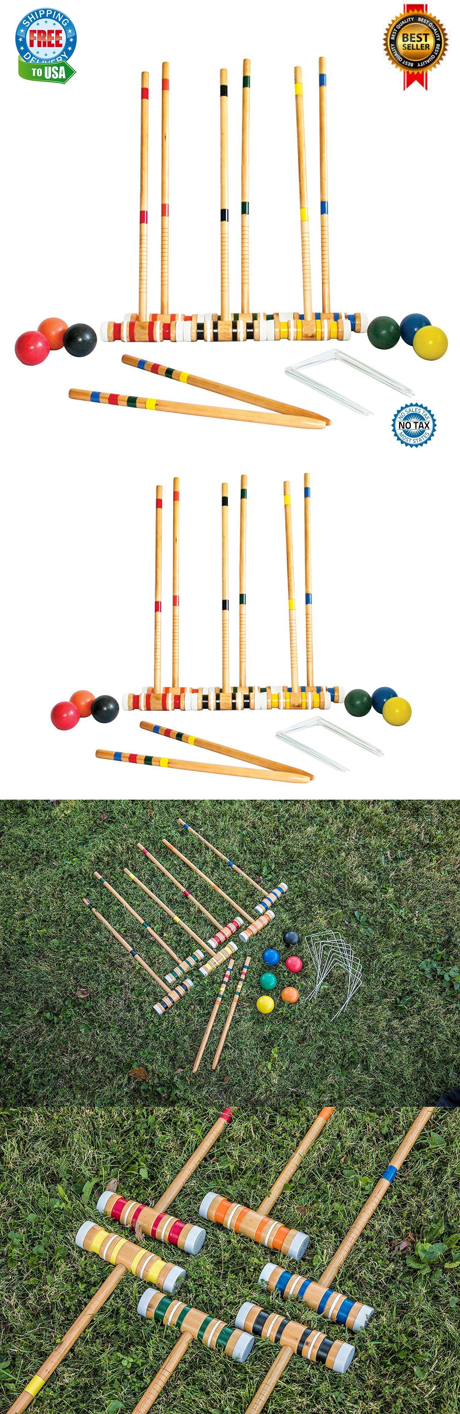 croquet 117210 croquet set vintage wooden game six player