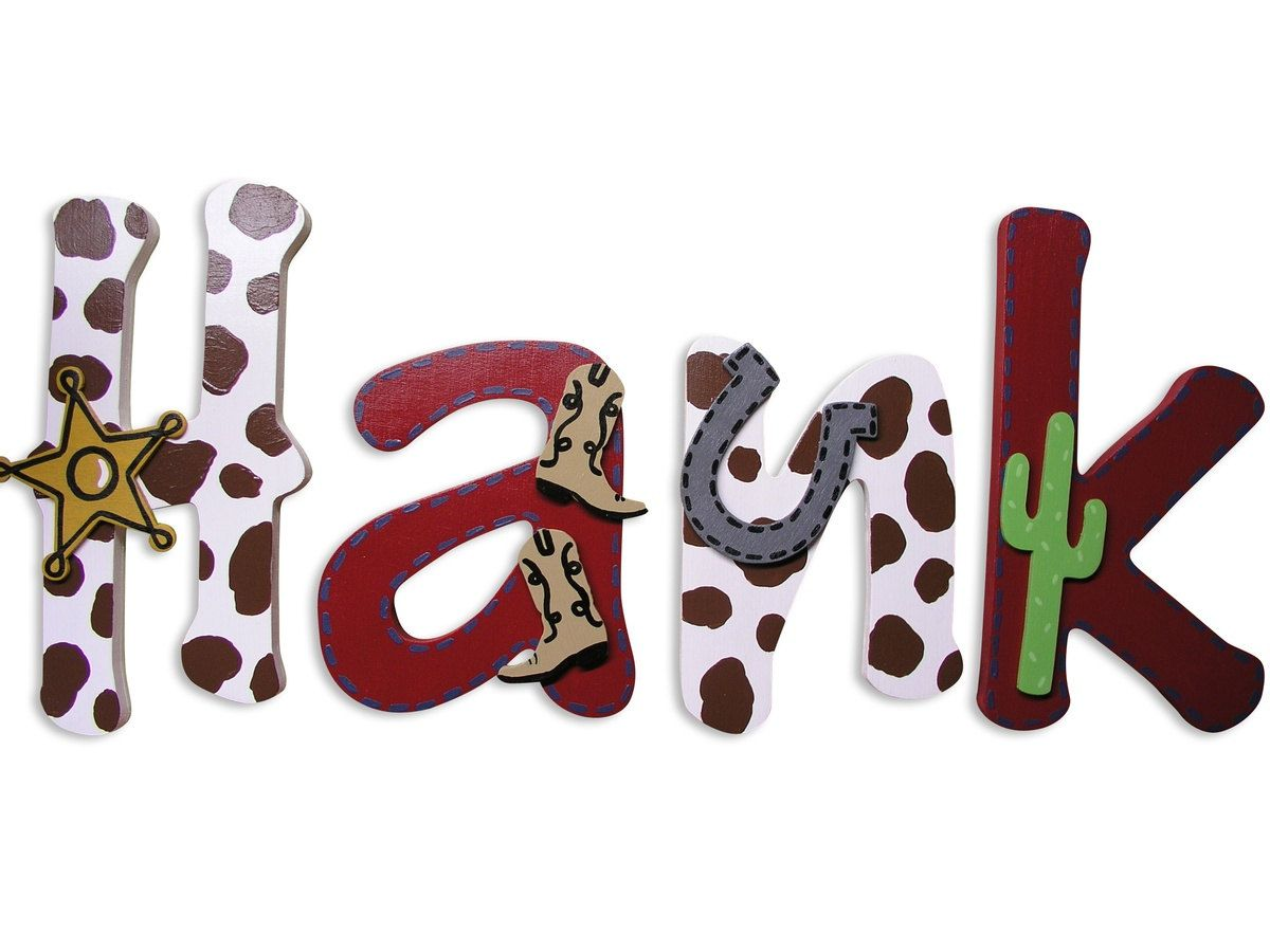 Painted Wall Letters Wooden Name Letters By