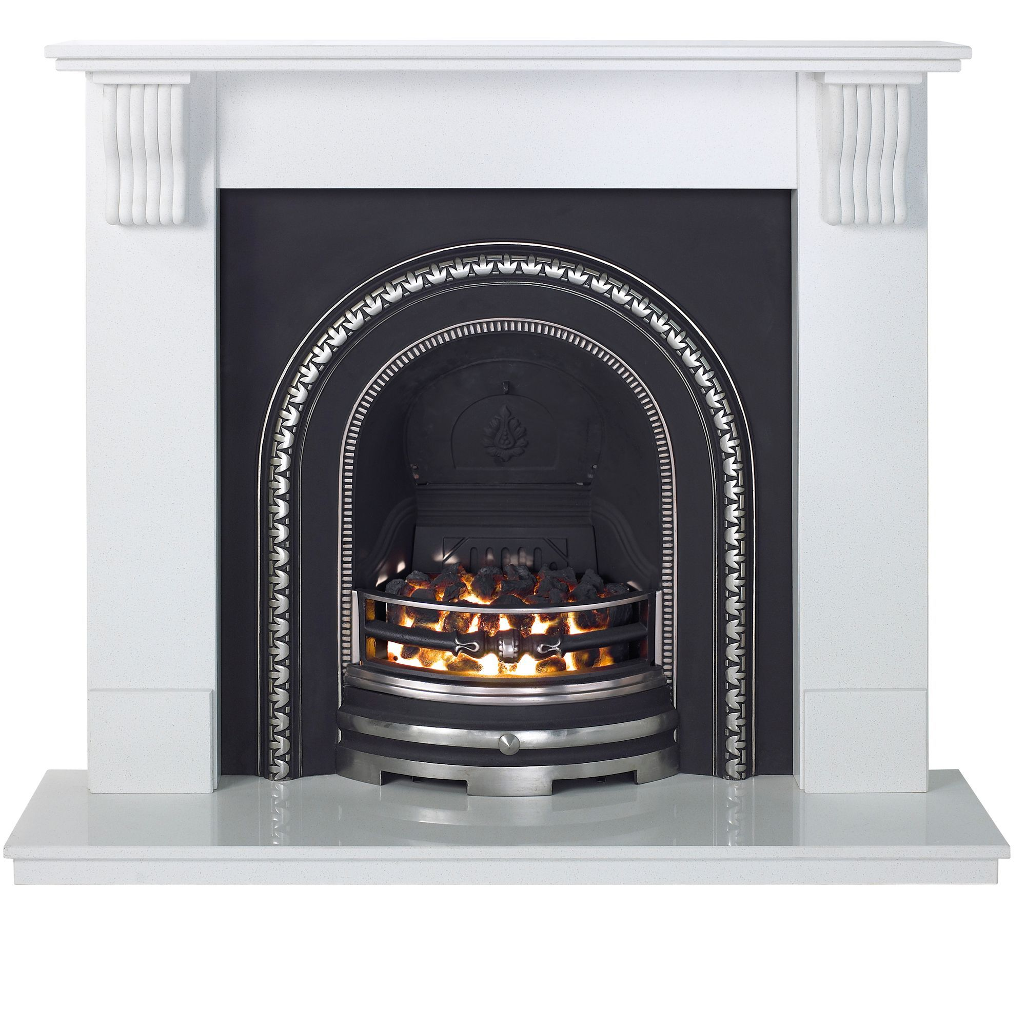 Aurora Victoria Flat Against Wall Electric Fireplace Suite