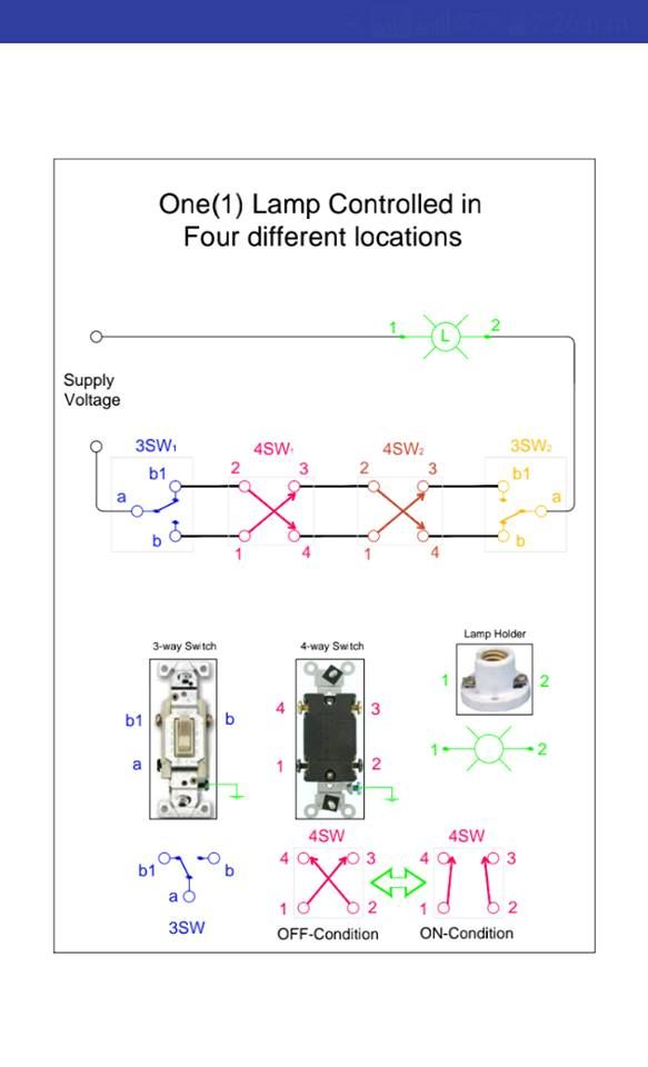 3 Way Switch Connection Diagram Electronic Engineering Structured Wiring Electronics Components
