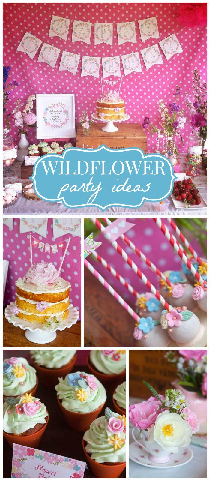 Wild Flower Birthday Sophias Wild Flower Party Flower
