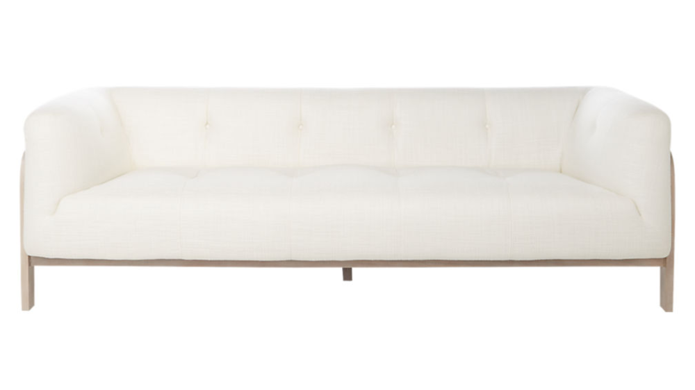 Moet White Tufted Sofa In 2020