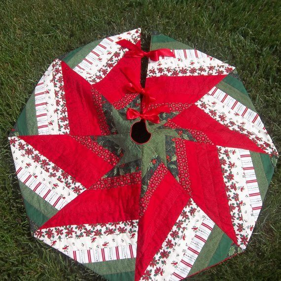 Quilted Christmas Tree Skirt 42\