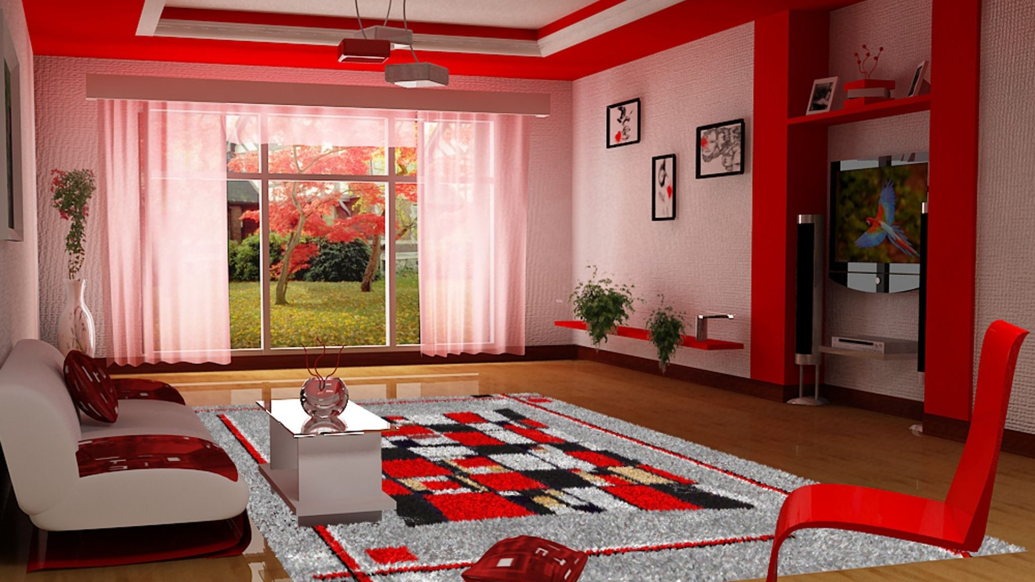 Living Room Furniture Style Red Hd With Regard To Red Living Room