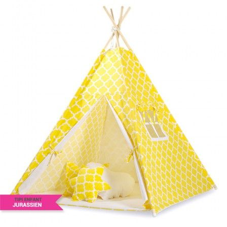 tente tipi pas cher tissu jaune maroko tipi enfant by. Black Bedroom Furniture Sets. Home Design Ideas