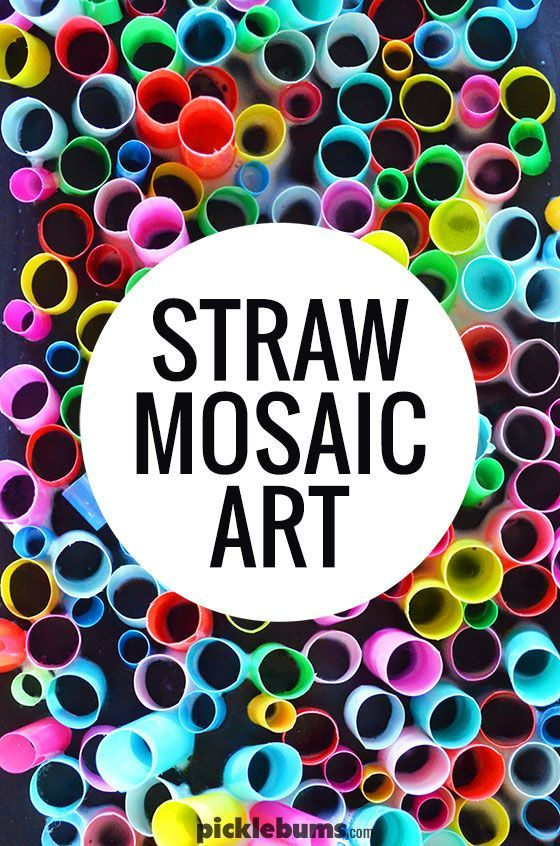 Super Cool Straw Mosaic Art | Art Projects for Kids | Mosaic