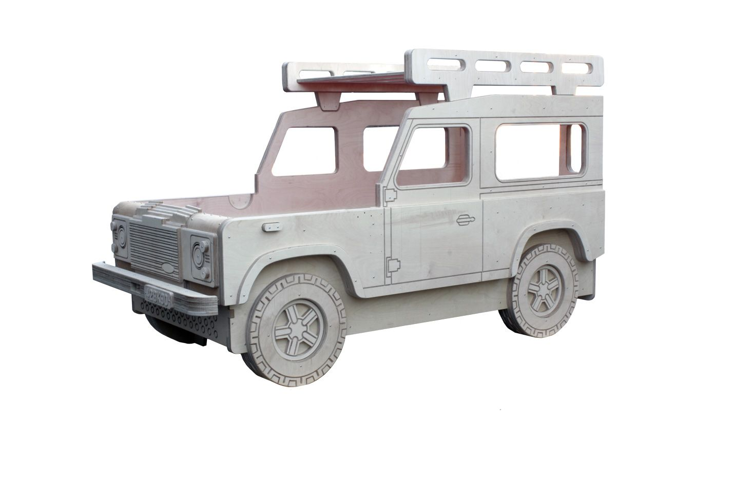 Land Rover 90 single Bed with roof rack storage Hjem