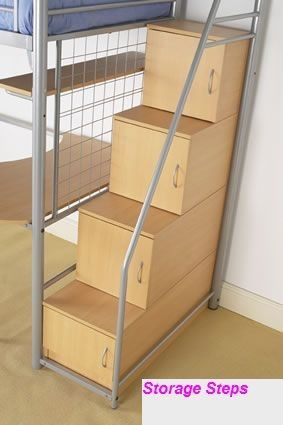 Lovely Hyder Storage Loft Bunk Bed With Desk Storage Steps Futon Idea - Lovely bed with stairs and desk Simple Elegant