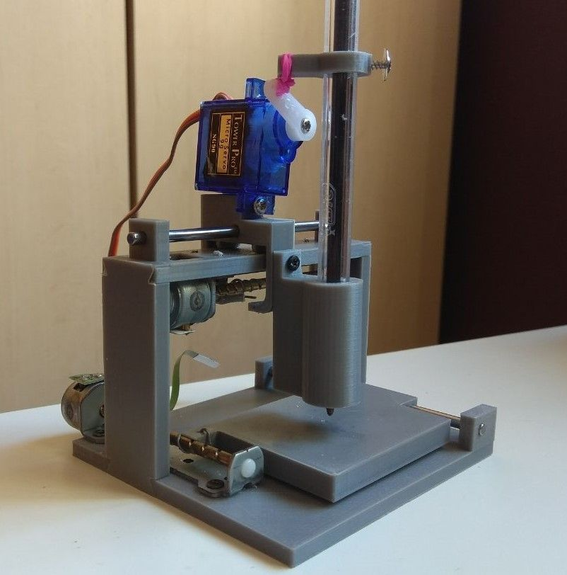 Mini+CNC+Drawbot+from+CD/DVD+drive+parts+by+manespgav  | arduino
