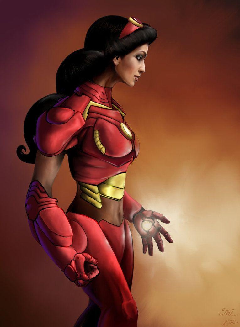 Princess Avengers: IRONMAN by ThinkingMakesItSo