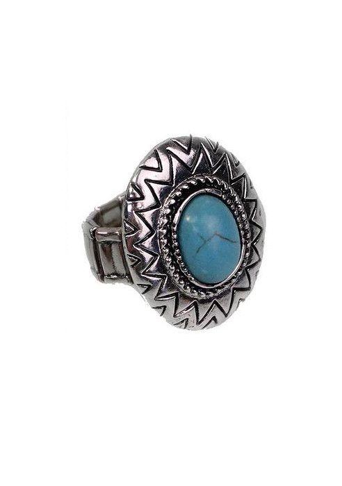 Round Turquoise Ring; furormoda.com
