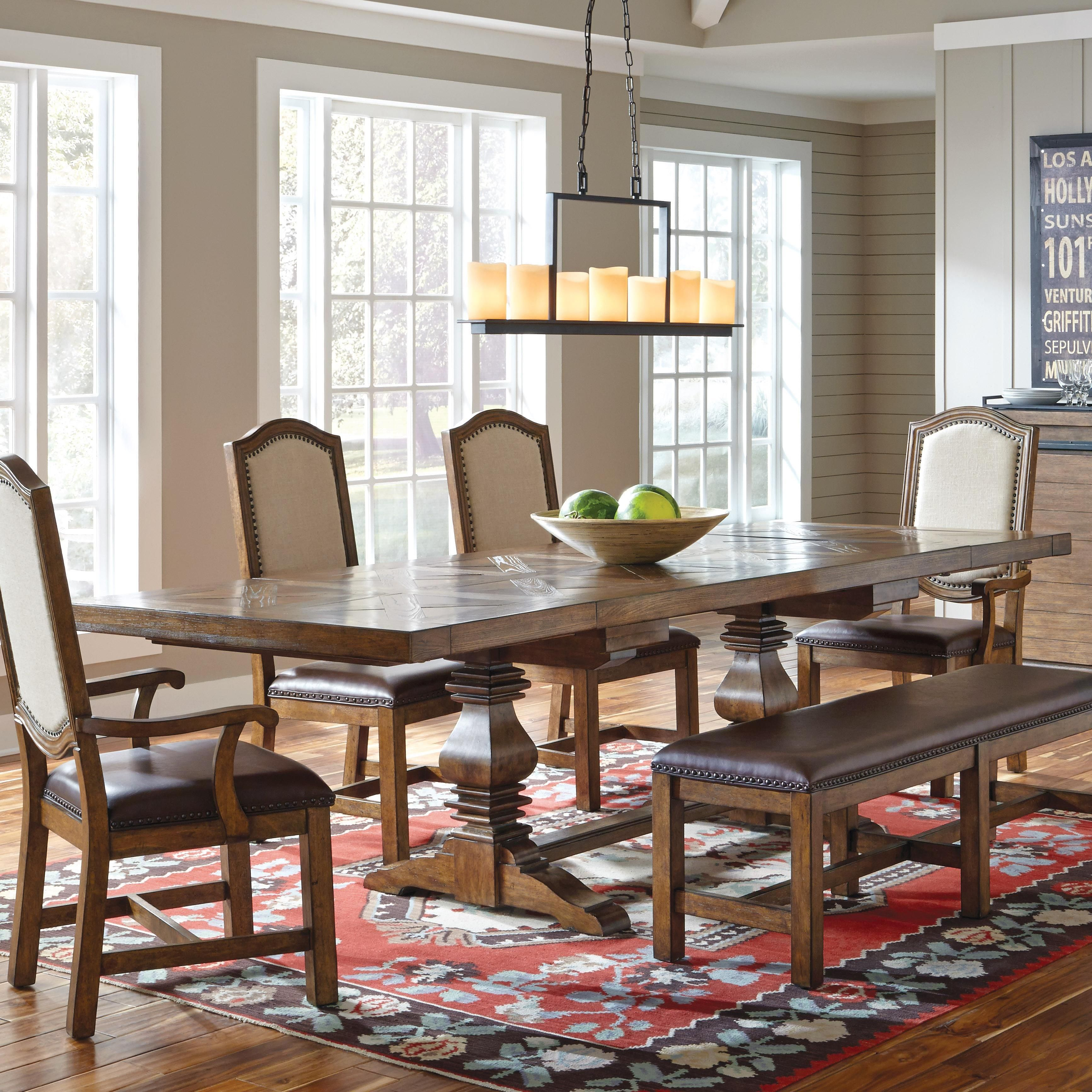 american attitude saw horse dining table w cross hitch top by