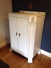 Shabby Chic, Farrow & Ball All White Storage Cupboard, Wardrobe Chest Of Drawers