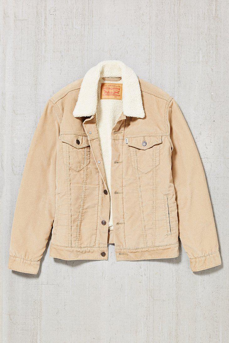 54295e5e0445e Levi s Corduroy Sherpa Trucker Jacket   Jackets   Pinterest ...