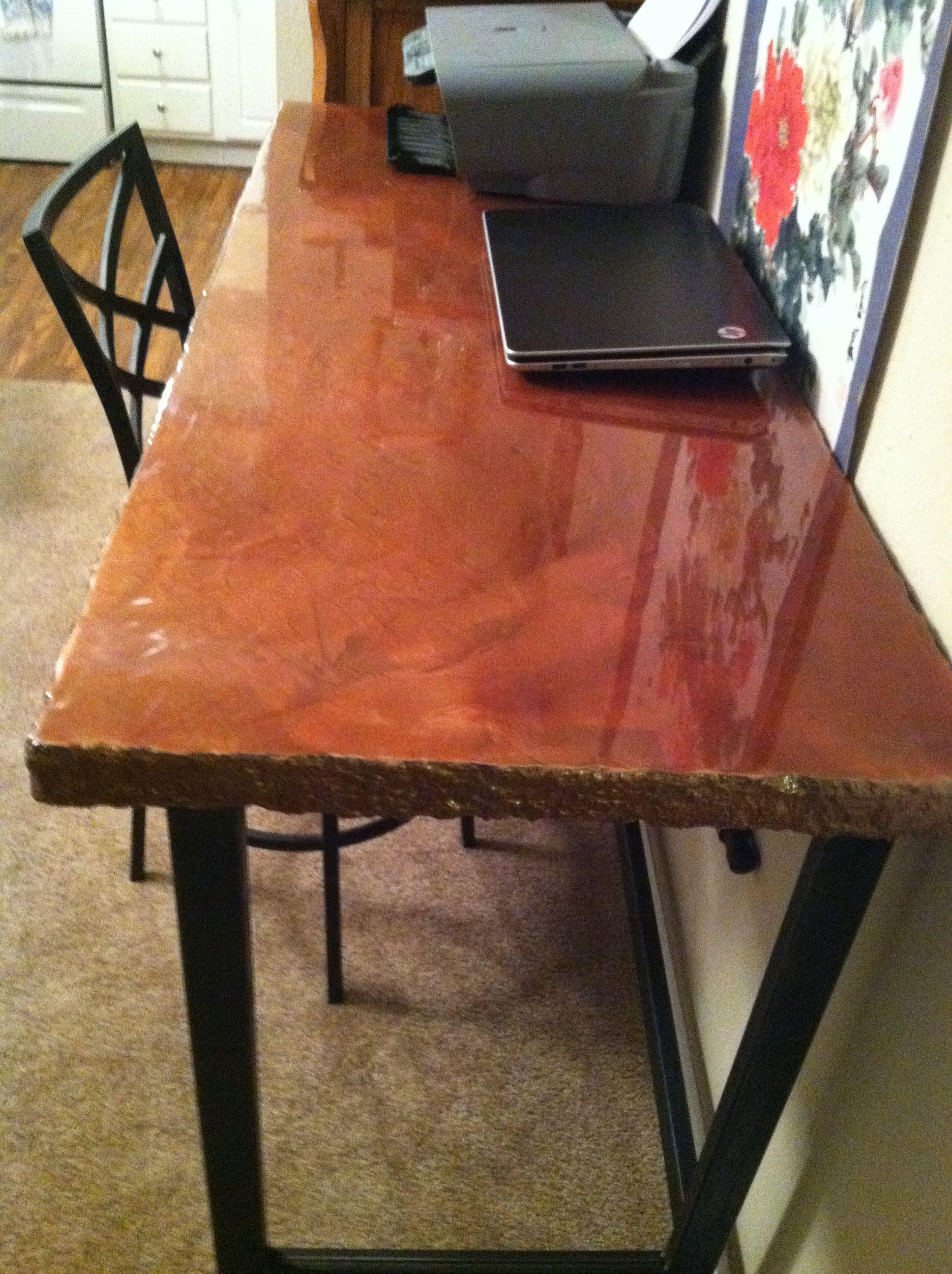 concrete table desk concrete furniture pinterest concrete