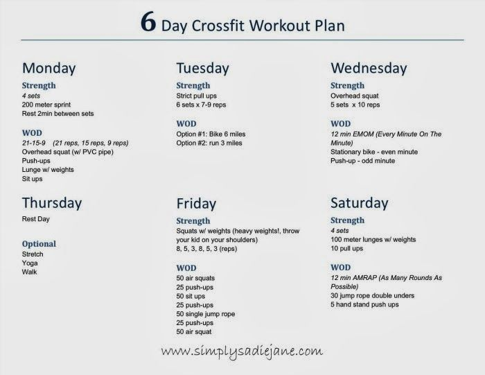 Pin By Tiffany Cox On Hiit    Weekly Workout Plans