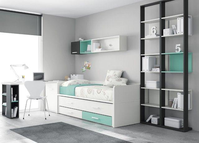 Dormitorio infantil juvenil moderno 43-21 | armarios | Pinterest ...