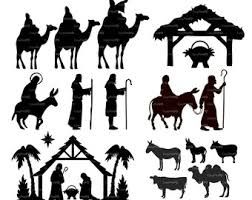 Download COMMERCIAL USE Nativity Christ silhouette Overlays (eps ...