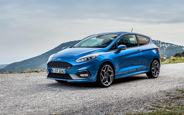 Download Wallpapers Ford Fiesta St 2018 3 Door Exterior Front