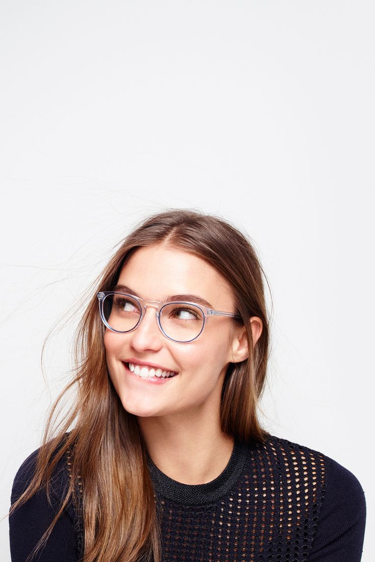 ec57a240f5 My Warby Parker Haskell frames in crystal blue