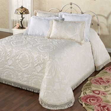 Antique Medallion Matelasse Oversized Bedspread Bedding Bed