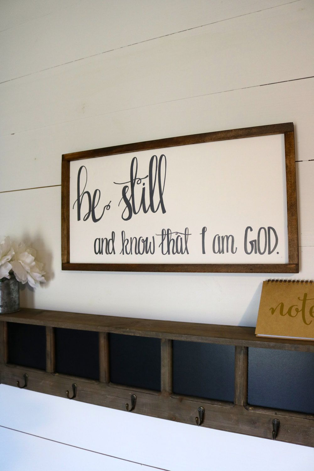 Christian home decor - Be Still And Know That I Am God Wood Frame Sign Scripture Wall Decor