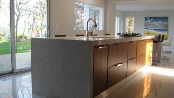 Lovely Contemporary Walnut Kitchen Cabinets