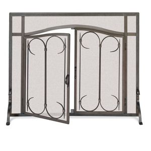fireside america pilgrim fireplace iron gate screen with arched