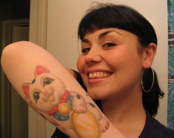Maneki Neko Another Brandon Amato American Vintage Tattoo Orange Ca Creation Maneki Neko Sailor Moon Tattoo Lucky Cat