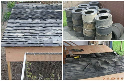 Diy Recycled Tire Shingles Tyres