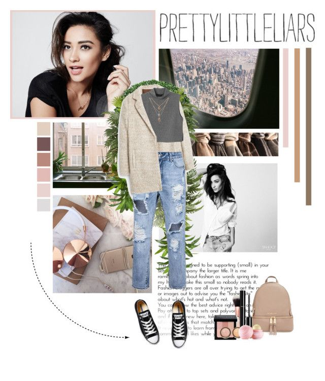 """""""TV Style: Pretty Little Liars"""" by l-kurdiovska ❤ liked on Polyvore featuring Nearly Natural, MANGO, Monki, MICHAEL Michael Kors, Converse, Chanel, Bobbi Brown Cosmetics, By Terry, Eos and women's clothing"""