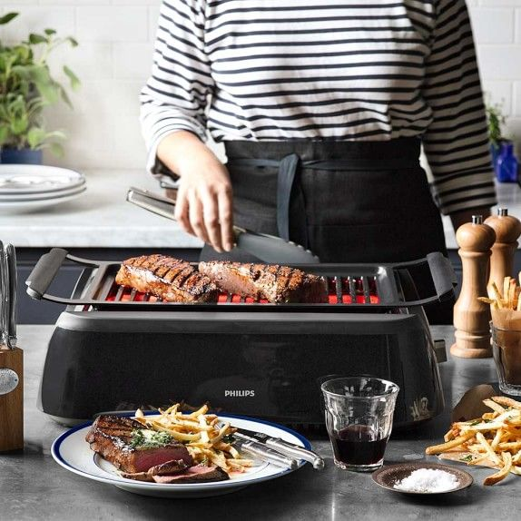 philips smoke less infrared grill williams