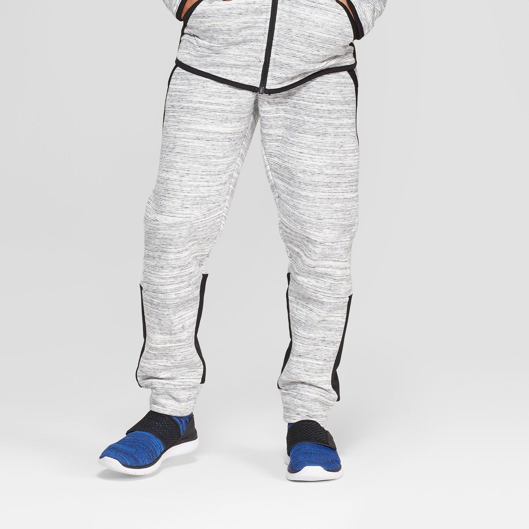 51ff099a Boys' Premium Woven Pieced Fleece Jogger Pants - C9 Champion Light Gray  Heather XL, Heather Grey