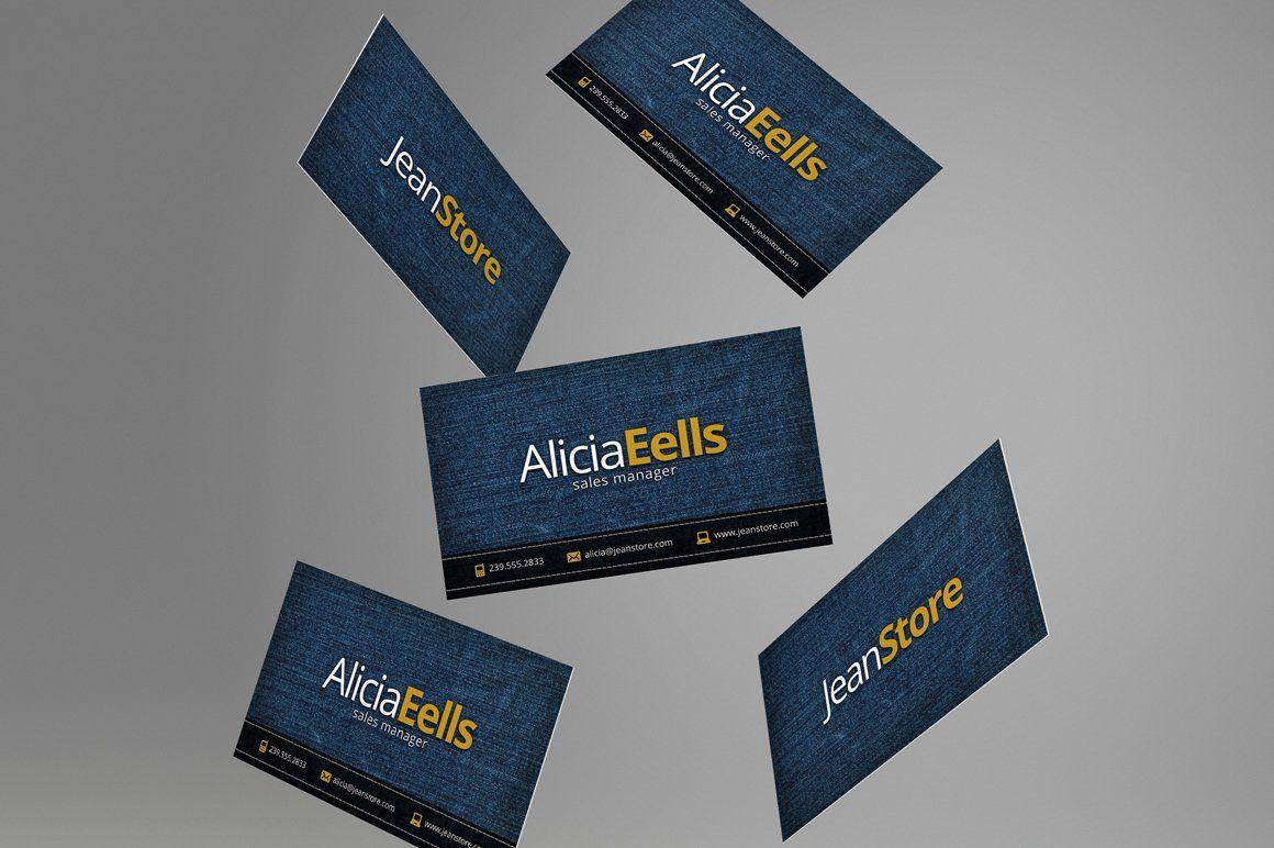 Denim Business Card Business Card Dimensions Business Card Photoshop Standard Business Card Size