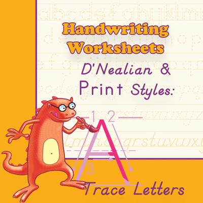 Handwriting Worksheets Practice Dnealianprint Style Trace