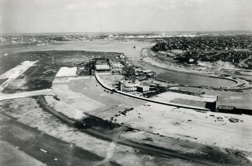 LaGuardia Airport under construction in the late 1930's
