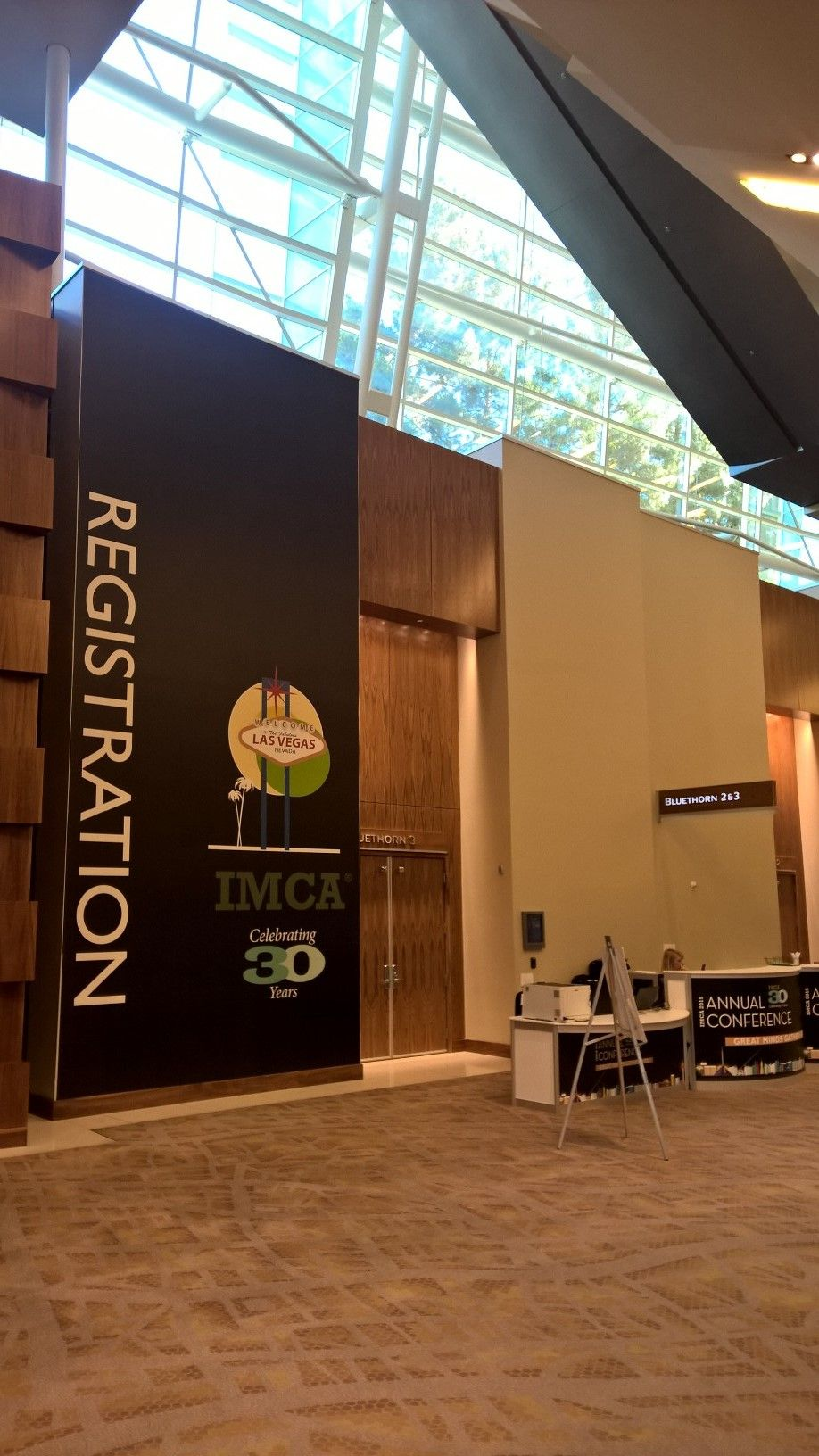 registration wall graphics for imca at aria las vegas. #graphics