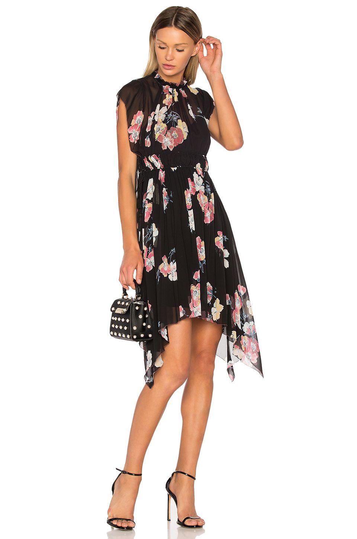 Luisa Floral-print Silk-georgette Mini Dress - Black Ulla Johnson zIm2jda