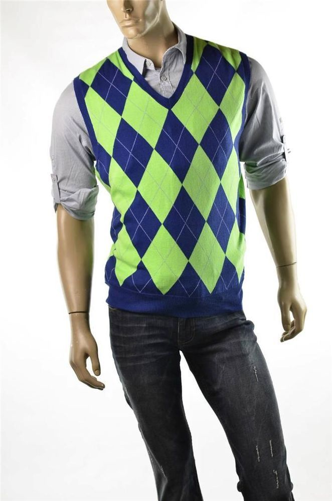 Polo Ralph Lauren Golf Sweater Vest Mens Argyle Sweaters Sz M ...