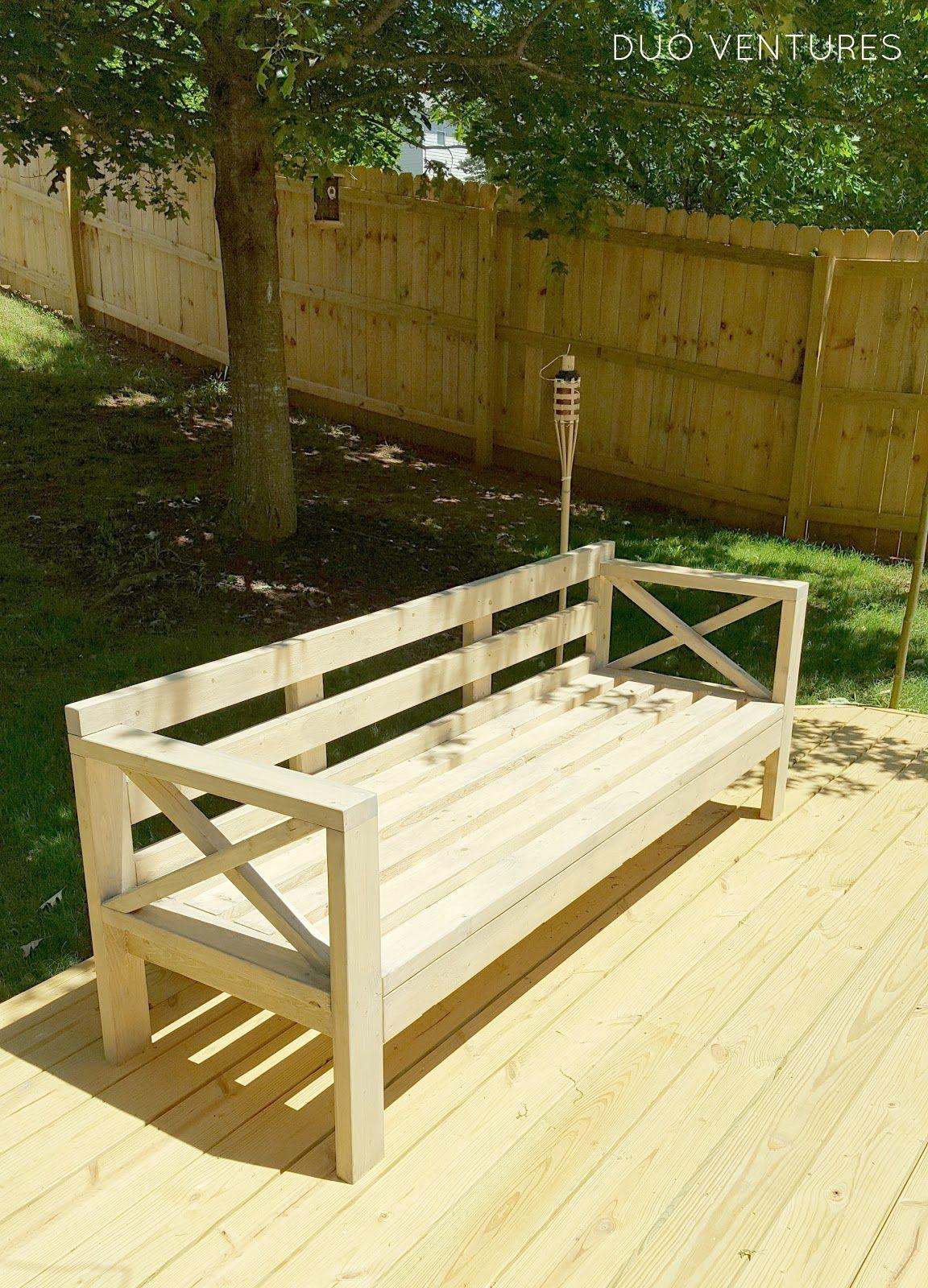 Diy outdoor wood sofas diy outdoor furniture outdoor